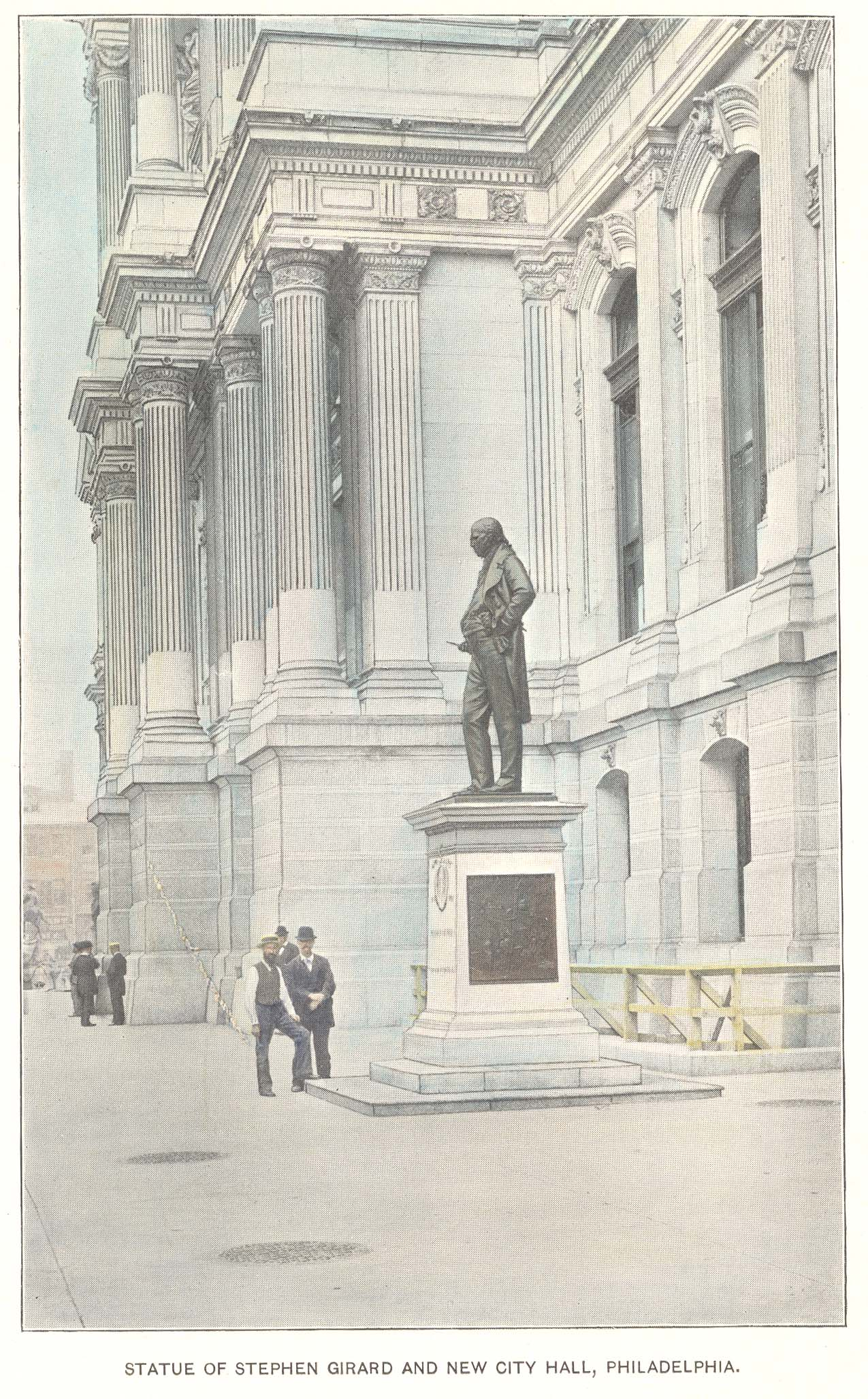 Stephen Girard statue at City Hall, 1897